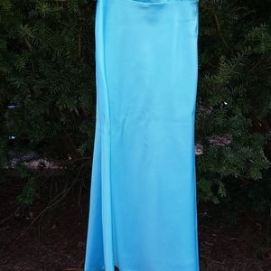 Cache Gown Blue Spaghetti Strap Style Gown SIZE 6